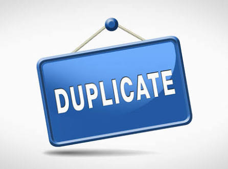 Duplicate payment
