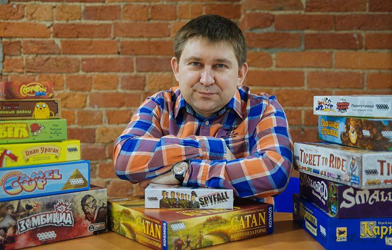 Михаил Акулов, генеральный директор и сооснователь издательства Hobby World. Фото: Макс Новиков.